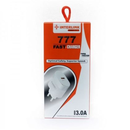 Interlink 777 Fast Charger 3.0A Fast Charging for Android Phones