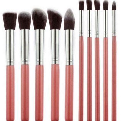 Pro Makeup Blush Eyeshadow Blending Set – 10 Pcs